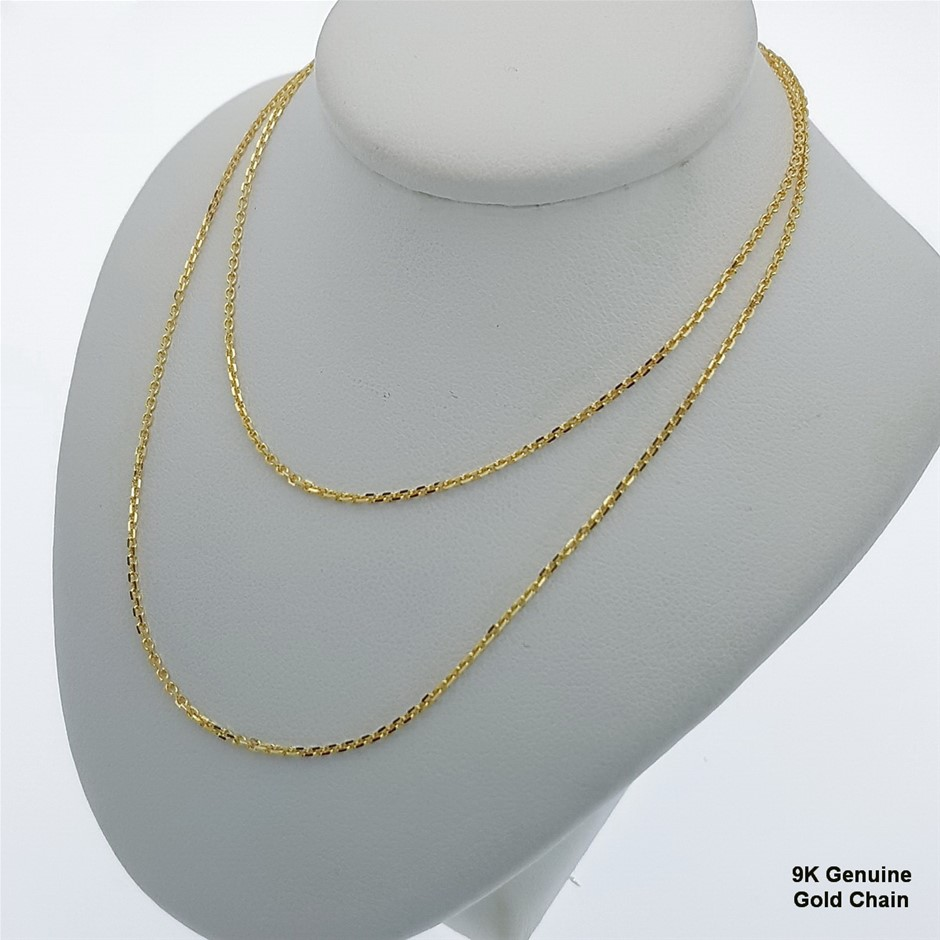 Genuine Italian 9 Karat Yellow Gold 50 cm chain necklace