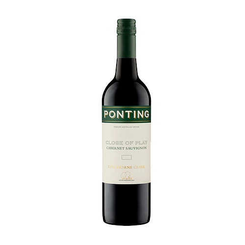 Ponting 'Close of Play' Langhorne Creek Cabernet 2018 (6x 750mL).