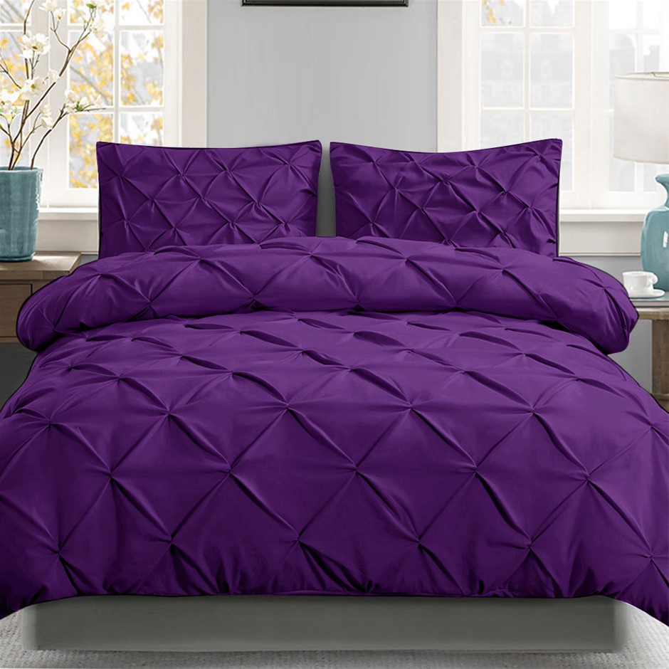 Giselle Luxury Classic Bed Duvet Doona Quilt Cover Set Hotel Super King