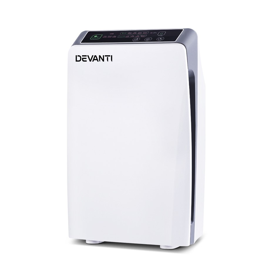 Devanti Air Purifier HEPA Filter Home Freshener Carbon Ioniser Cleaner