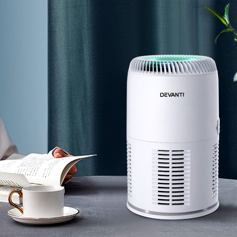 Devanti Air Purifier Desktop Purifiers HEPA Home Freshener Carbon Ioniser