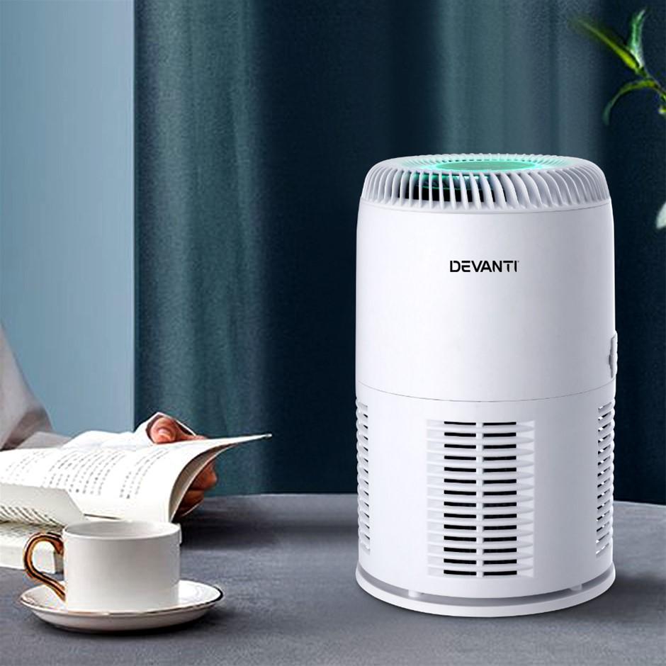 Devanti Air Purifier Desktop Purifiers HEPA Home Freshener Carbon Ioniser
