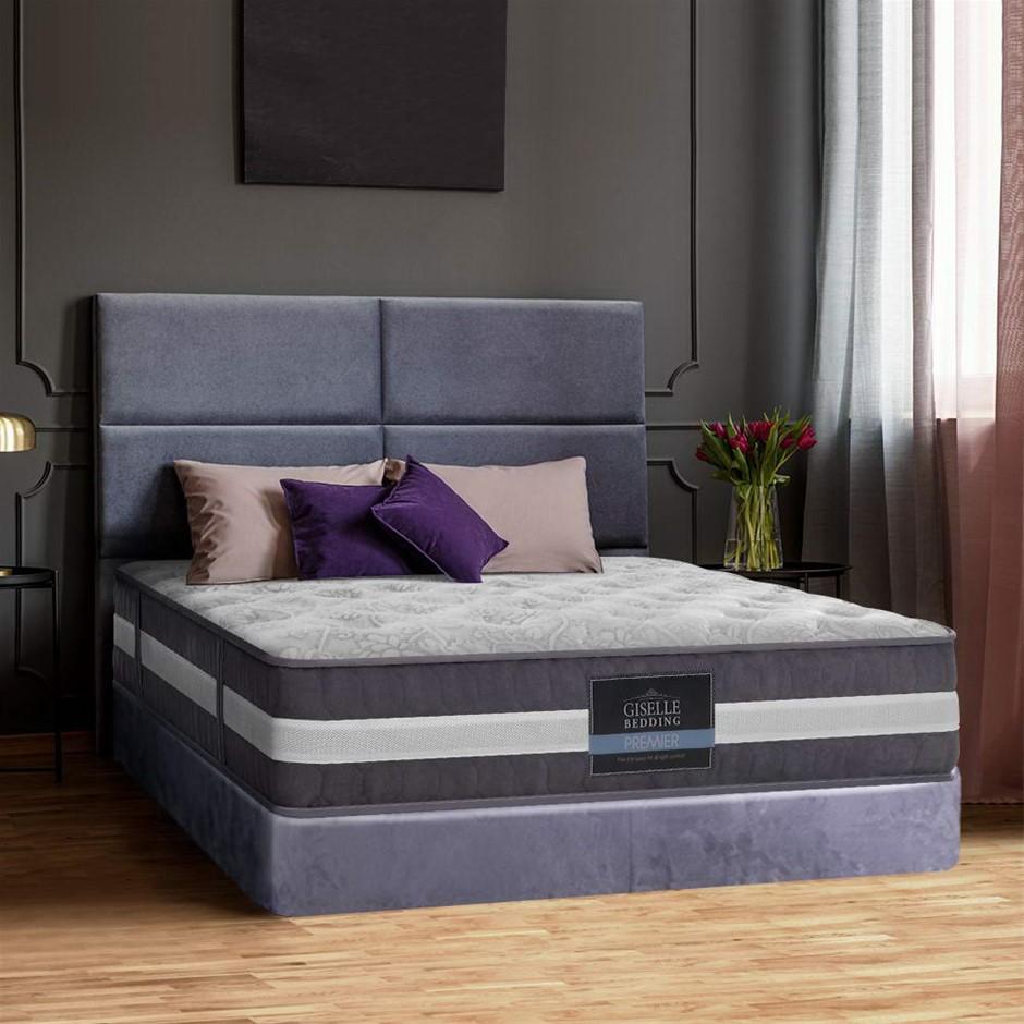 Giselle Bedding Double Mattress 7 Zone Pocket Spring Medium Firm Foam 30cm