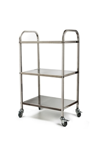3 Tiers Food Trolley Cart Stainless Stee
