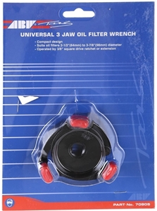 4 x ABW Universal 3-Jaw Oil Filter Wrenc