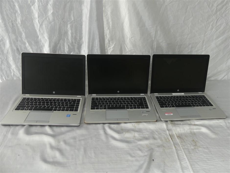 Box of Assorted HP Laptops And Desktops 3 x HP EliteBook Fo