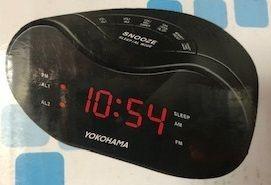 (4 Pack) Yokohama AM/FM Alarm Clock Radio (CR300YOK), Black