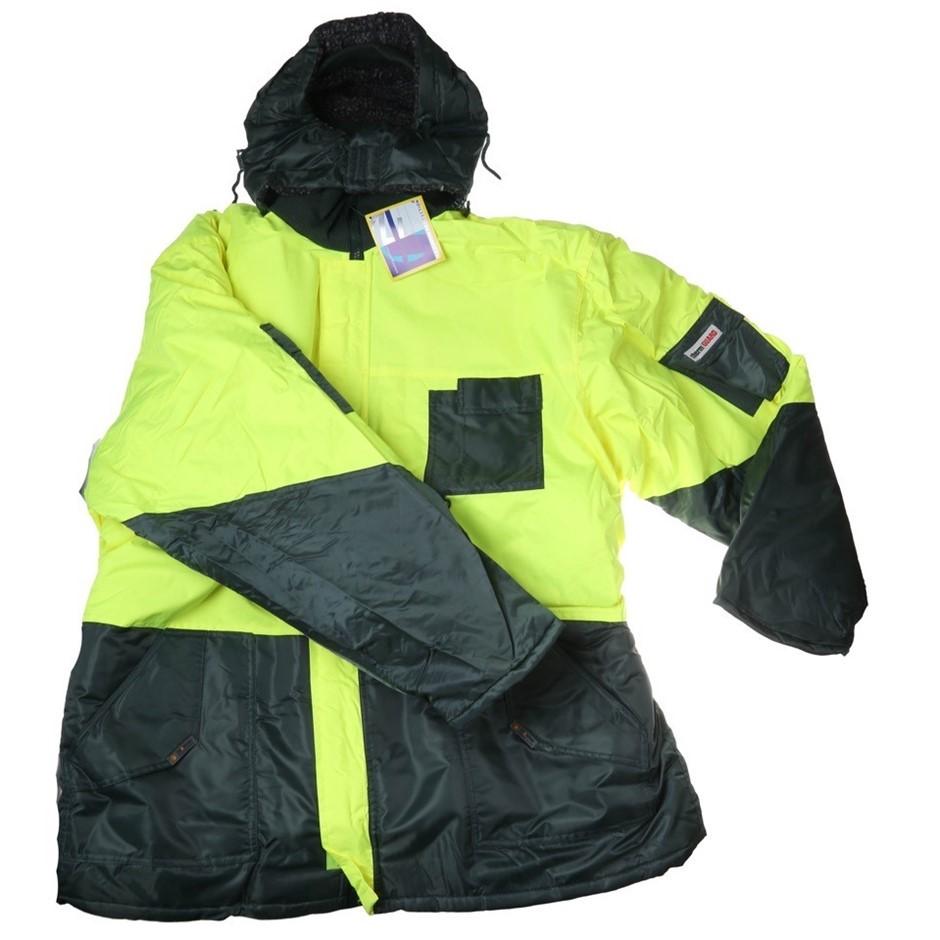 FRONTIER Freezer Jacket, Velcro/Zip Front Closure, Size 6XL, Concealed Hood