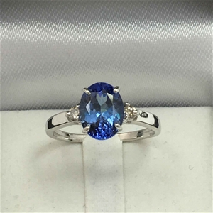 18ct White Gold, 2.14ct Tanzanite and Di