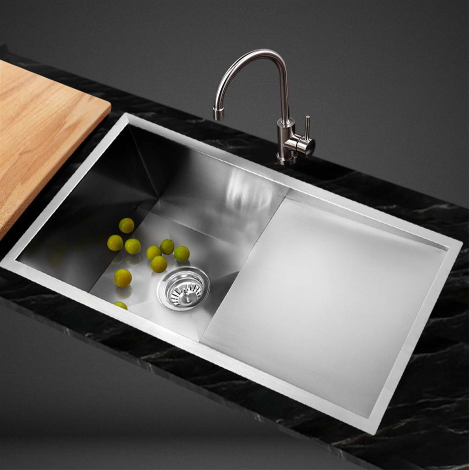 Cefito Kitchen Sink Stainless Steel Under/Topmount Laundry 750x450mm
