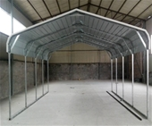 Unused Steel Single & Double Carport Sheds