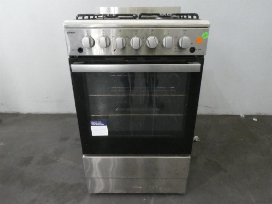 Chef 54cm NG Gas Upright Cooker (CFG504SBNG)