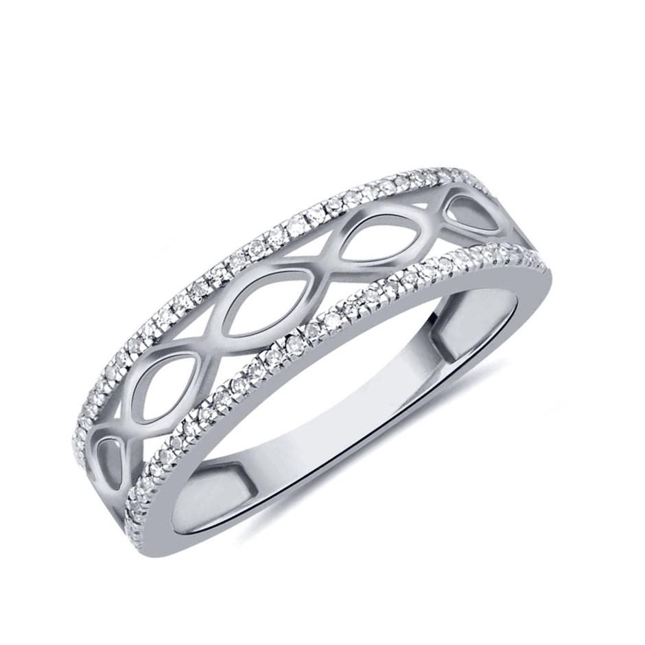9ct White Gold, 0.15ct Diamond Ring