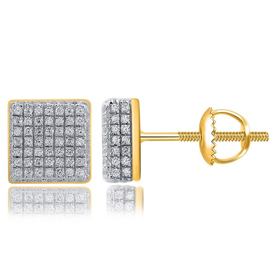 9ct Yellow Gold, 0.28ct Diamond Earring
