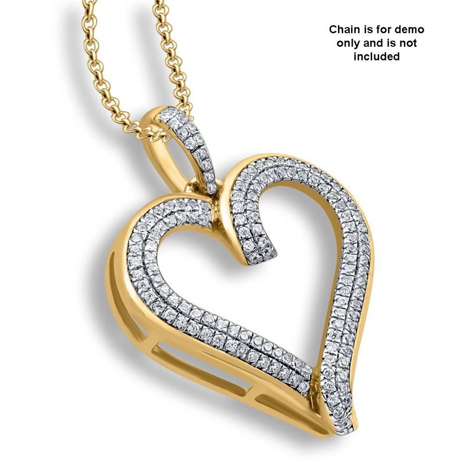 9ct Yellow Gold, 0.18ct Diamond Pendant