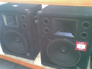 2 X Ev Stage Speakers 200w Way Elect