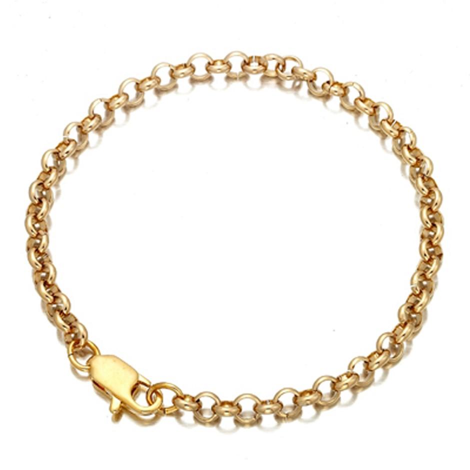 Gold plated belcher bracelet