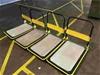 Qty 4x Yellow Trolleys