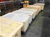 Qty 10x Large White PVC Storage Bins