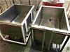 Qty 2x Mobile Stainless Steel Tubs