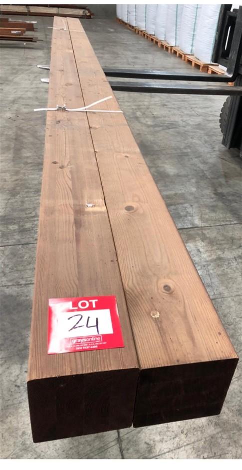 140 x 140 Pine lam Post GL8. Length 2pc - 4.8m.