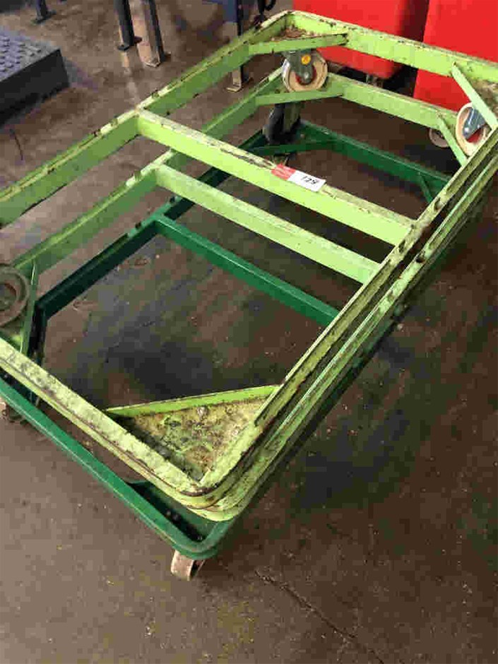 Qty 3x Floor Trolleys
