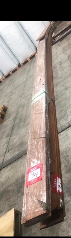140 x 19 Merbau Cladding/ Shiplap. length 5pcs/ 5.7m