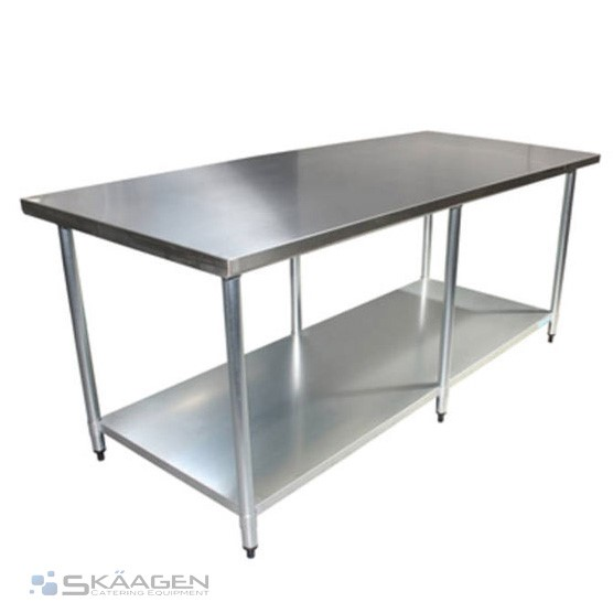 Unused 2440mm x 610mm Stainless Steel Bench