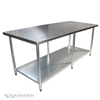 Unused 2440mm x 760mm Stainless Steel Bench