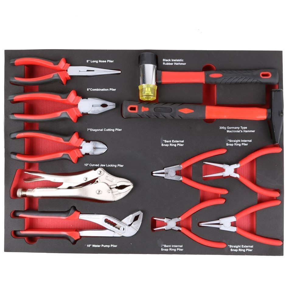 JMV Insert 11pc Plier Set, Contents: See Images. Buyers Note - Discount Fre