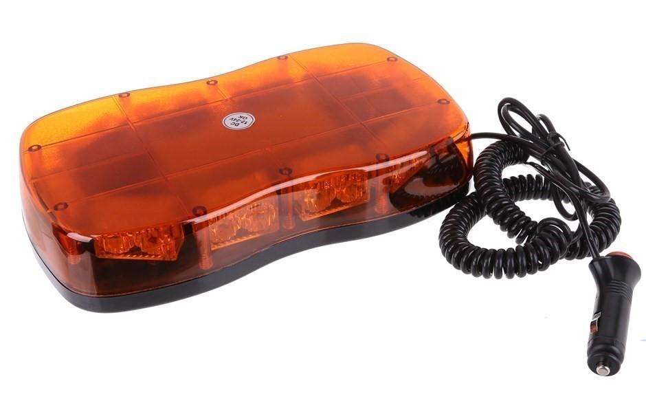 Slimline LED Strobe Light 12V & 24V, Magnetic Base, 300mm (L) x 160mm (W) x