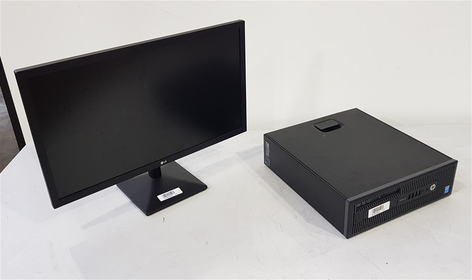 Hp ProDesk 600 G1 SFF Desktop Pc With 24-Inch LG Monitor