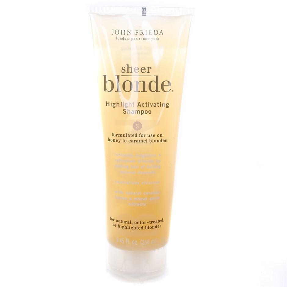 6 x JOHN FRIEDA Sheer Blonde Shampoo, 250ml. Formulated for use on honey to