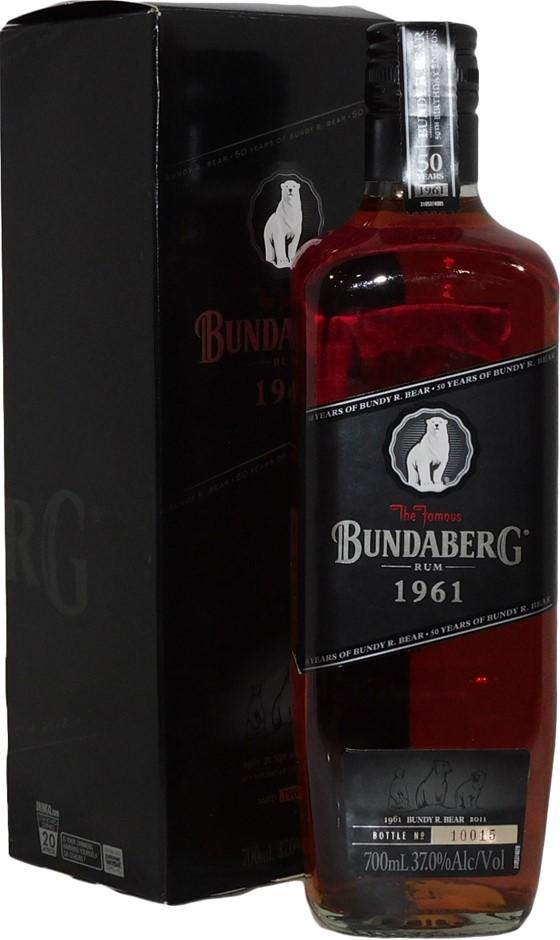 Bundaberg 1961 50th Birthday Rum 2011 (1x 700mL Bottle No. 10015), AUS