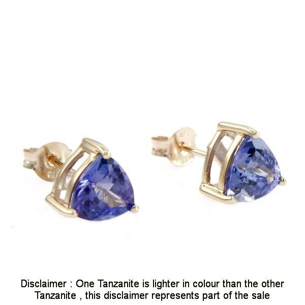 9ct Yellow Gold, 1.45ct Tanzanite Earring
