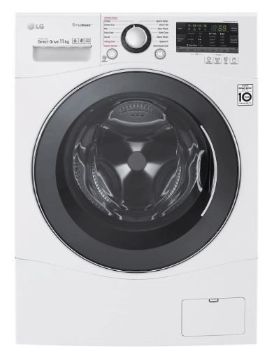 LG 11kg Front Load Washing Machine with TrueSteam (WD1411SBW)