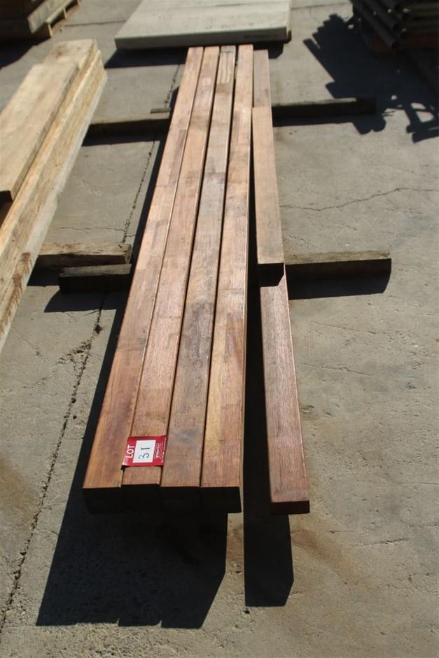 6x Assorted Hardwood Dress Timber Beams