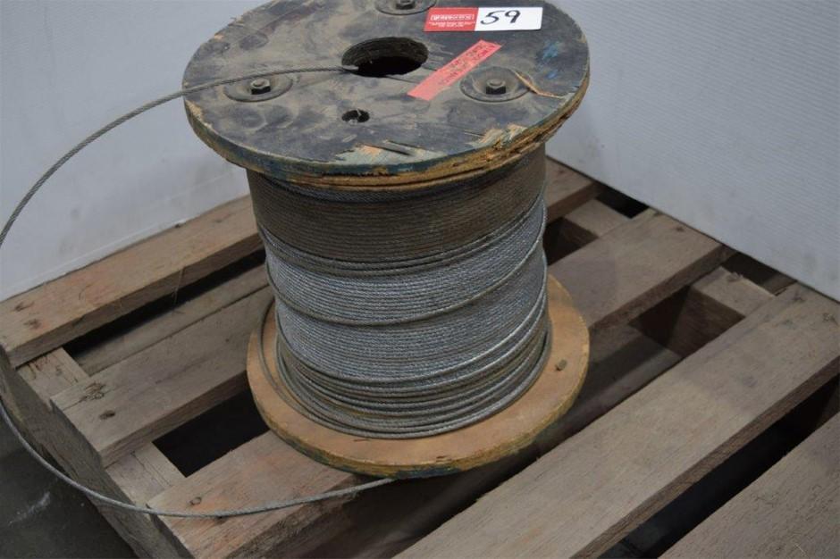 Part Drum Galvanised 3mm Wire Rope