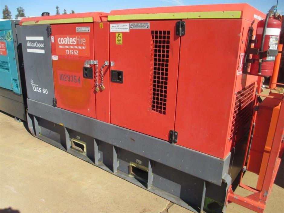 Generator - 60kVA (Diesel) - 2010 Atlas Copco QAS60