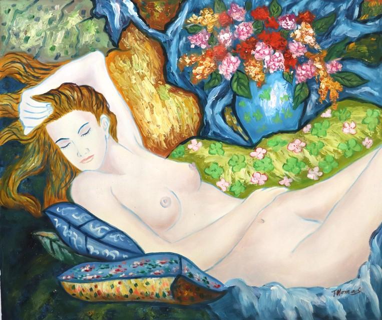 THOMAS (b.) OIL Painting on Canvas