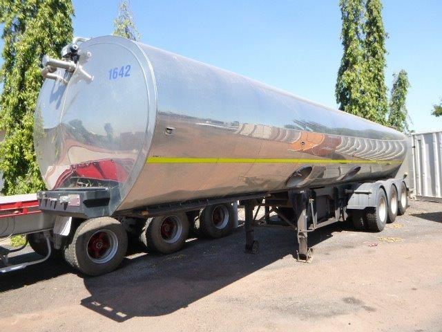 2000 Tieman 28500-HDEL-1C-A-BMC Triaxle Flat Top / Tanker Trailer