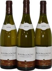 Olivier Tricon Bourgogne Chardonnay 2010 (3x 750mL), France. Cork.