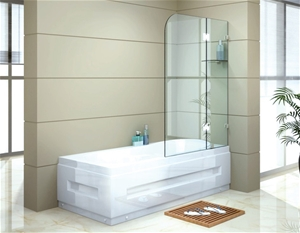 900 x 1450mm Frameless Bath Panel 10mm G