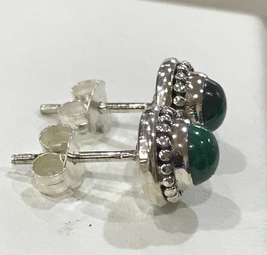 Brilliant Genuine Handcrafted Malachite Earrings