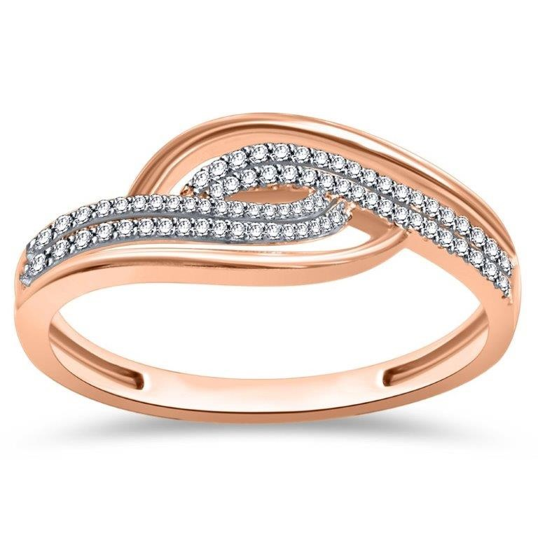 9ct Rose Gold, 0.12ct Diamond Ring