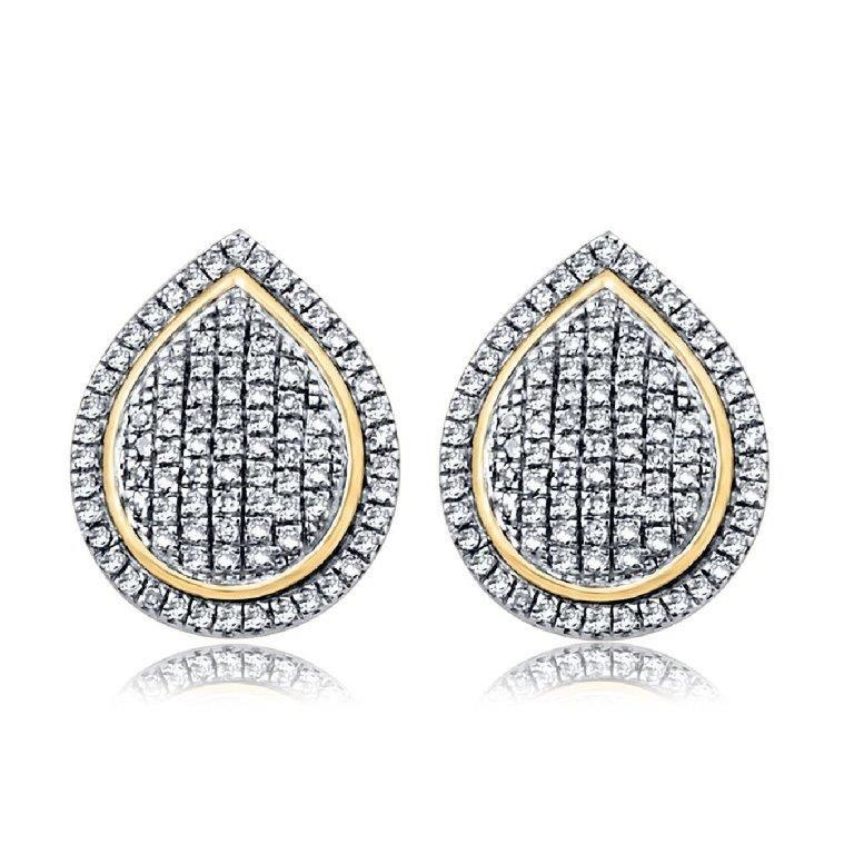 9ct Yellow Gold, 0.25ct Diamond Earring