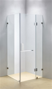900 x 700mm Frameless 10mm Glass Shower