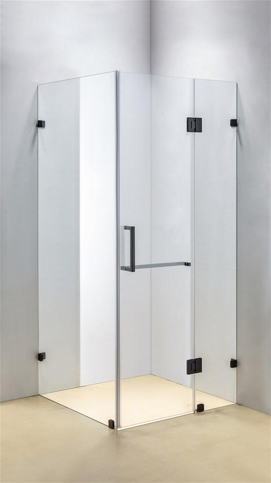 1000 x 900mm Frameless 10mm Glass Shower Screen Della Francesca