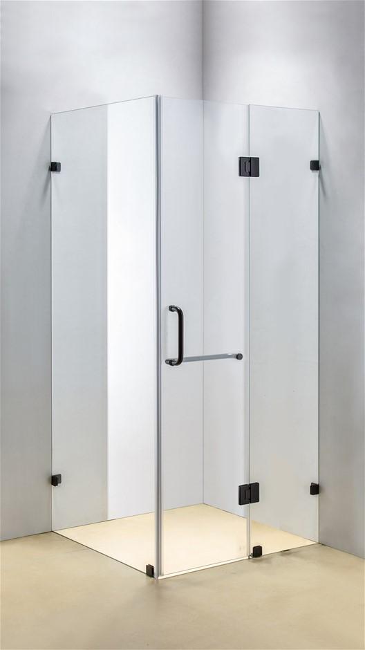 1100 x 1000mm Frameless 10mm Glass Shower Screen Della Francesca