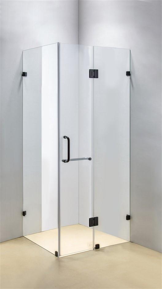 1200 x 800mm Frameless 10mm Glass Shower Screen Della Francesca